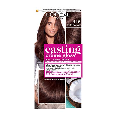 L'Oréal Casting Crème Gloss 415 Iced Chocolate Brown Semi Permanent Hair...