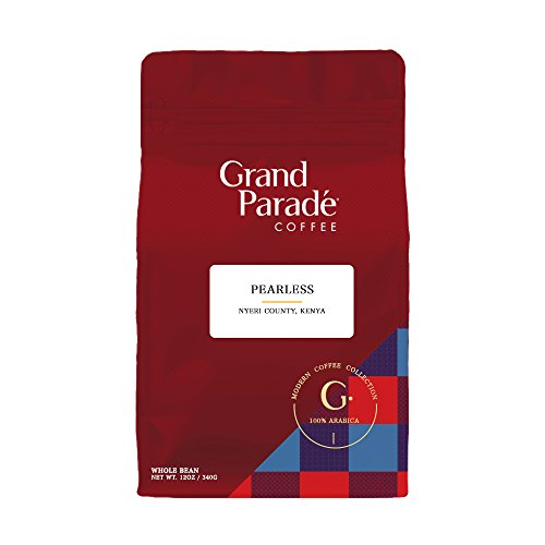 Grand Parade Coffee  Gourmet Kenya Aa Nyeri Pearless Whole Bean Coffee  Direct Trade And Fair Trade Certified  Aromatic And Flavor Rich Medium Roast Coffee  12 Ounce Bag