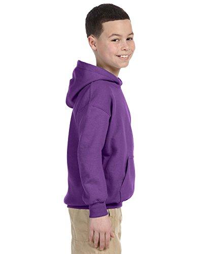Gildan Heavyweight Blend Youth Hooded SweatShirt Purple S