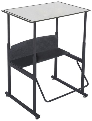 (Safco Products AlphaBetter Adjustable-Height Desk, 1203GR, 28