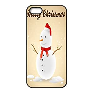 DIY Phone Case for Iphone 5,5S, Christmas Snowman Cover Case-707965 by lolosakes