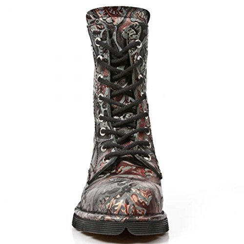 Nuovi Stivali Di Roccia M.1423-s21 Gotico Hardrock Punk Damen Stiefel Rot