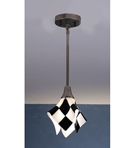 (Meyda Tiffany 82545 My Brother Mario Handkerchief Fused Glass Mini Pendant Light Fixture, 9