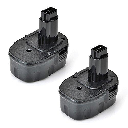MASIONE 2 Pack Replacement 14.4V 2000mAh Ni-CD New Power Tool Battery for DEWALT DC9091, DE9038, DE9091, DE9092, DE9094, DE9502, DW9091, (De9092 Dw9091 Dw9094 Power Tools)