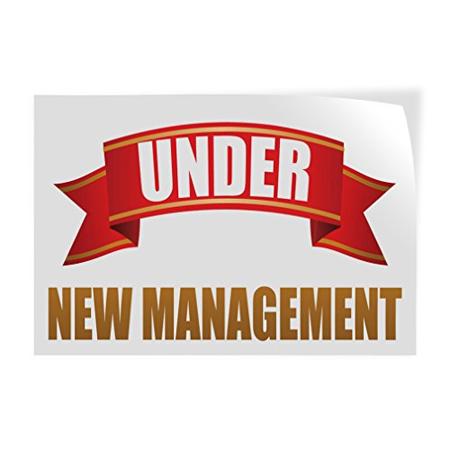 (Decal Sticker Multiple Sizes Under New Management #1 Style R Costume & Fashion Under New Management Outdoor Store Sign White - 52inx34in, Set of)