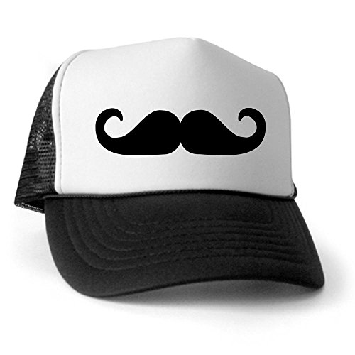 CafePress - Beard - Mustache Trucker Hat - Trucker Hat, Classic Baseball Hat, Unique Trucker Cap Black/White]()