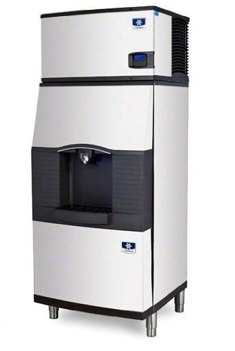 Manitowoc IY-0304A-SPA-310 310 Lb Air-Cooled Half Cube Ice Machine w/ SPA-310 Hotel (310 Lb Ice Machine)