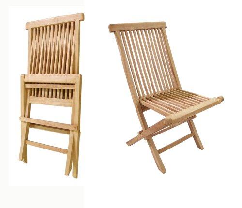 Crestwood Collection (D-ART COLLECTION Teak Crestwood Folding Chair, Set of 2)