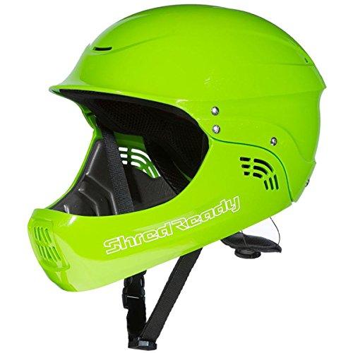 Whitewater Kayak Helmet - Shred Ready Standard Full Face Whitewater Kayak Helmet-Green