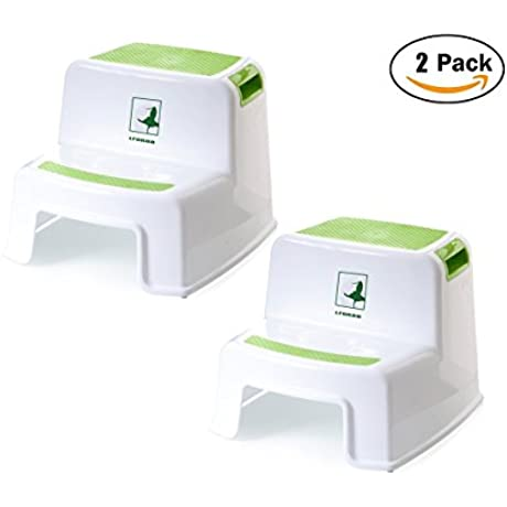 Toddler Step Stool Two Step Stool For Kids Washstand Step Stool For Kids Toddler S Stool For Potty Training Step Stool And Nursery Step Stools Use In The Bathroom Or Kitchen 2 Pack Green