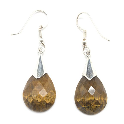 Faceted Tiger - S.S. Faceted Tiger's Eye Earrings