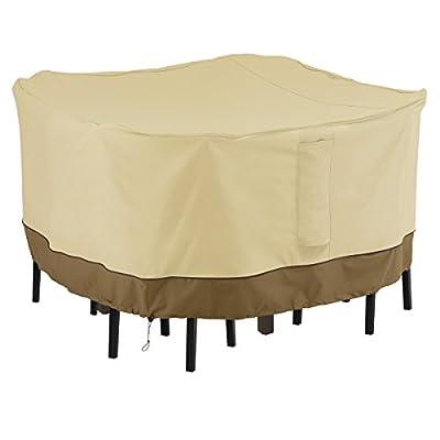 Classic Accessories Veranda Square Bar Height Table & Chair Set Cover, Medium