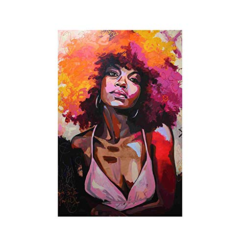 - lightclub Abstract Watercolor Woman Canvas Painting Poster Wall Art Picture Unframed Home Decor 3# 50x70cm
