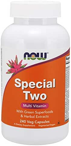 NOW Supplements, Special Two with Green Superfoods & Herbal Extracts, 240 Veg Capsules