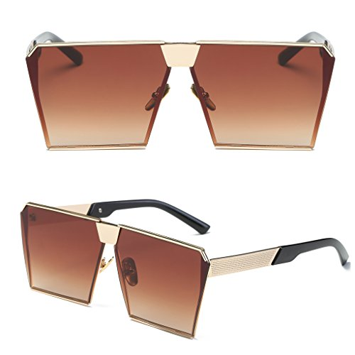 Niceskin Retro Oversized Mirrored Sunglasses Shades for Women, Resin and Metal - Rate Sunglasses