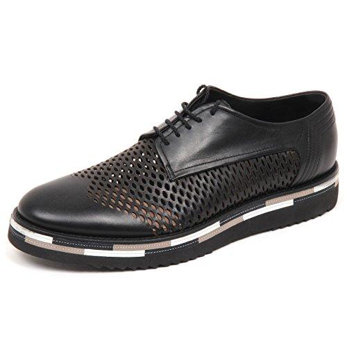 Alberto Guardiani E4608 Scarpa forata Uomo Black Scarpe Shoe Man Nero