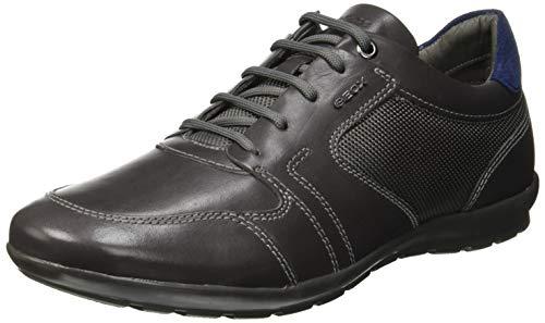 Geox Men's Symbol 29 Lightweight Sneaker, Black Charcoal, 42 Medium EU (9 US)