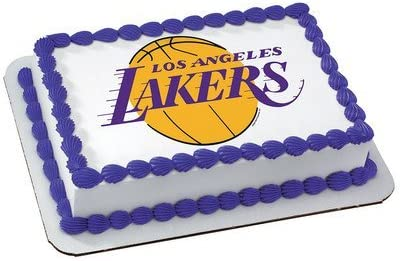 Peachy Amazon Com Los Angeles Lakers Licensed Edible Cake Topper 4706 Funny Birthday Cards Online Sheoxdamsfinfo
