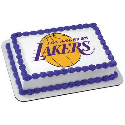 Amazon.com: Los Angeles Lakers Licensed Edible Cake Topper #4706 ...