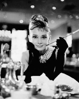 Pyramid America Audrey Hepburn-Breakfast at Tiffany's-Black and White, Movie Mini Poster Print, 16 by 20-Inch