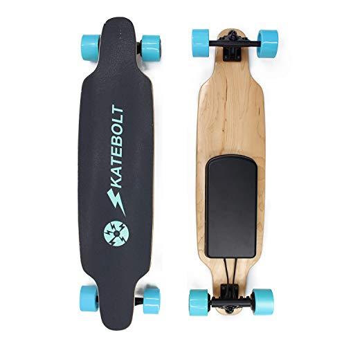 SKATEBOLT Electric Skateboard Longboard S3 New Breeze, Replaceable Wheel, 14 Miles Max Range, 19 MPH Top Speed, Dual Motor 500 W, 8 Layers Maple