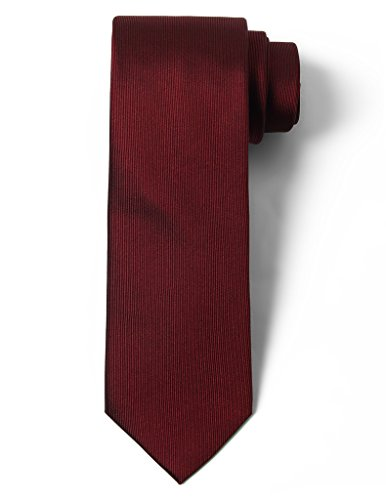 Origin Ties Solid Color 100% Silk Men's Skinny Tie Burgundy (Mens Ties Italian compare prices)