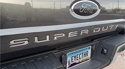 EyeCatcher Tailgate Insert Letters fits 2017-2019 Ford Super Duty Chrome