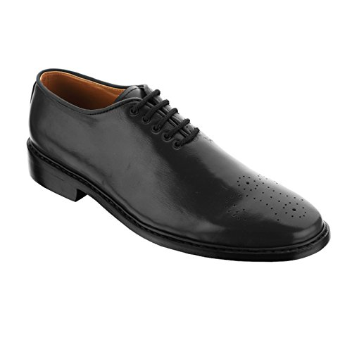 Handmade Damen Frost Presidente Mens Lace-up Leather Dress Shoes, Color Black, Size US12 by Damen Frost
