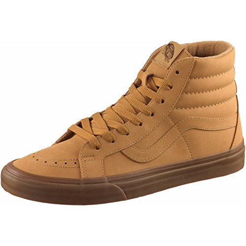 Mono Shoes Hi - Vans Unisex Sk8-Hi Reissue (Vansbuck) Light Gum/Mono Skate Shoe 12 Men US