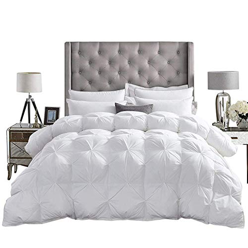 Epic Touch 3 Piece Pinch Pleated Comforter Set Premium 1000 Thread Count 100% Egyptian Cotton Super Soft (Oversized…