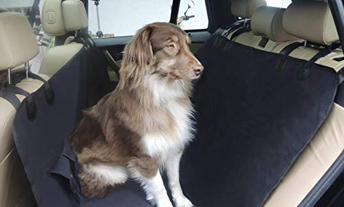 Waterproof car bench seat cover for dogs with pocket, boot liner MY BACK SEAT PROTECTOR TO GO, dog hammock, washable scratch resistant, dirt and mud repellent protects the seats from liquids and hair