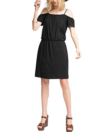 edc by Esprit Im Carmen Stil, Vestido para Mujer Negro (BLACK 001)