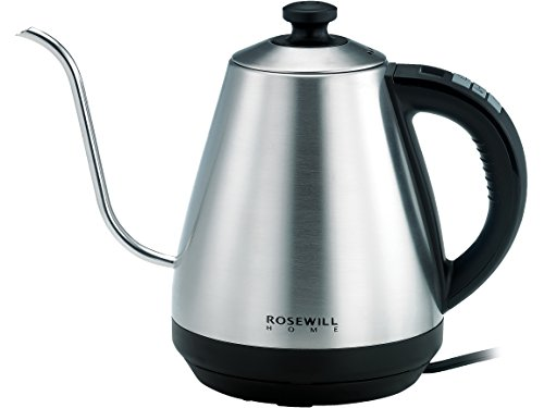 Rosewill Pour Over Coffee Kettle, Electric Gooseneck Kettle, Coffee Temperature Control with Variable Temperature Settings, Stainless Steel,  RHKT-17002 by Rosewill