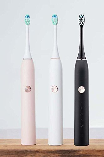Electric Toothbrush, Rechargeable Ultrasound Toothbrush, Whitening Waterproof Automatic Toothbrush, With 5 Brushing Modes, Household Adult (Color : Black)