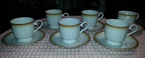 Saucer Manor (Vintage 12 Piece MANOR HOUSE KG000 Japan Porcelain Teacup and Saucer Set)