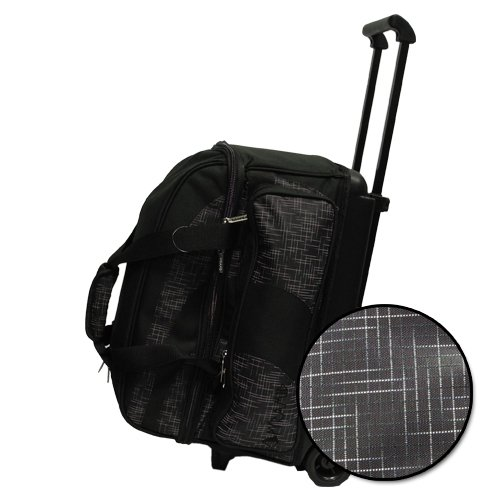 Pyramid Path Deluxe Double Roller Bowling Bag (Black/Black Circuit)