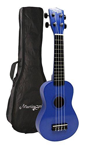 Martin Smith UK-222-BL Soprano Ukulele, Blue