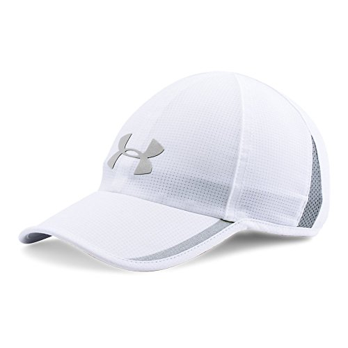(Under Armour Men's Shadow ArmourVent Cap, White (100)/Silver, One Size)