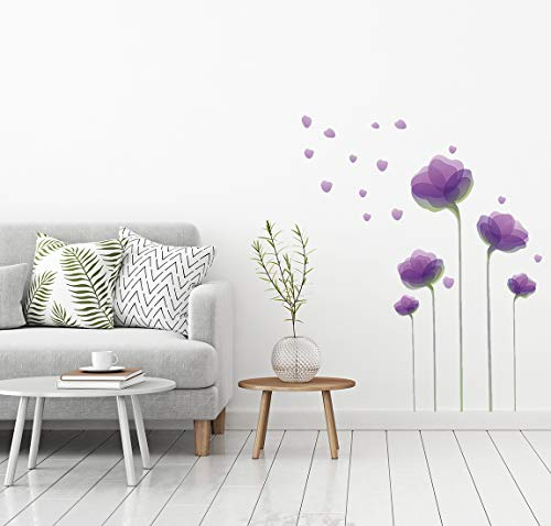 Purple Flowers Sticker - Wall Decals - Wall Décor - Flower Wall Decals - Flower Wall Stickers - Flower Decals - Wall Stickers - Purple Wall Decals - Purple Flower Wall Decals - Purple Flower Stickers