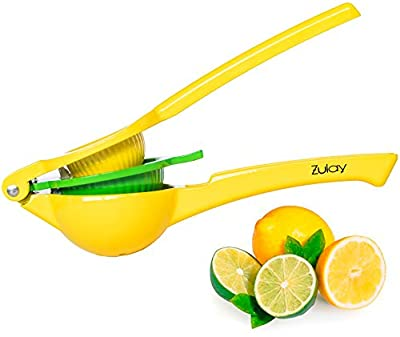 Top Rated Zulay Premium Quality Metal Lemon Lime Squeezer - Manual Citrus Press Juicer by Zulay Kitchen
