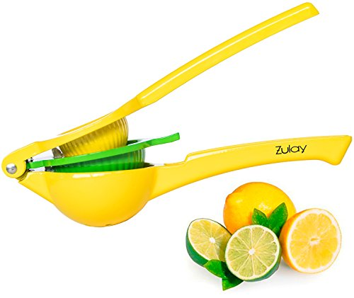 Top Rated Zulay Premium Quality Metal Lemon Lime Squeezer - Manual Citrus Press (Mexican Lime Squeezer)