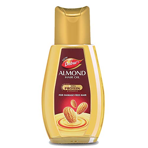 Dabur Almond Hair Oil with Almonds , Soya Protein and Vitamin E for Non Sticky , Damage free Hair – 500ml