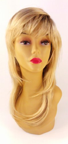 Long Blonde Rooted Wig – Quality Kanekalon Synthetic Hair Loss Replacement Natural Looking Fashion for (Beverly Johnson Synthetic Wig)