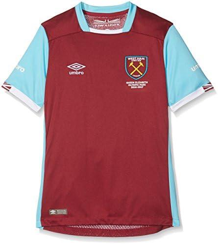 Umbro West Ham Home Short Sleeve West Ham Home - Camiseta réplica de Manga Corta para niño, Multicolor Niños