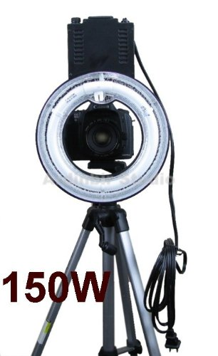 """Ardinbir Photography 150W 5400K Hot Shoe Macro Ring Light Lamp for SLR/DSLR Cameras, Photo Studio and Portrait"