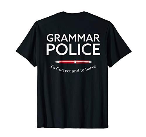 Teacher Funny Halloween Grammar Police T-shirt Party School -
