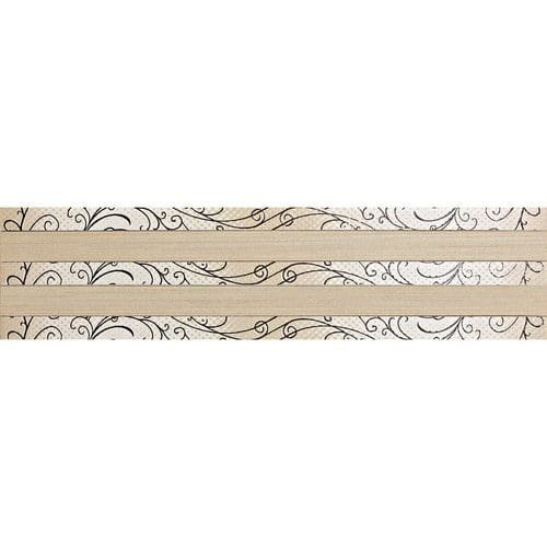 """Price comparison product image Spark 24"""" x 6"""" Decorative Accent Tile in Firelight Flicker / Ember Flare"""