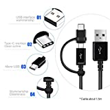 Full Power 5A MicroUSB + USB-C Kit for Asus ZenFone 2 Laser 5.5-inch (US) 16GB Provides True USB Fast Quick Charging