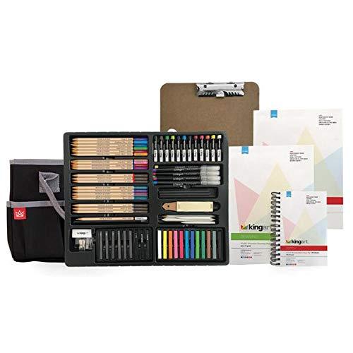 Set De Arte 124 Piezas Para Sketching Y Dibujo, Kingart