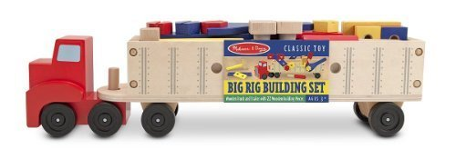 Melissa & Doug Big Rig Building Set + FREE Scratch Art Mini-Pad Bundle [27588]